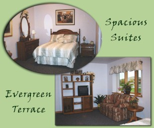 Spacious Suites of Evergreen Terrace